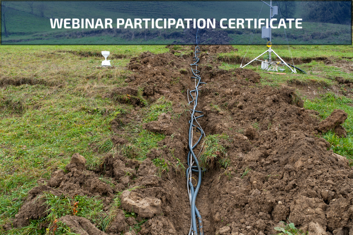 Webinar Participation Certificate for Electrical Resistivity Imaging & Tomography: Best Practices